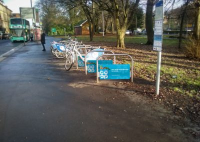Co-oP cycle stands