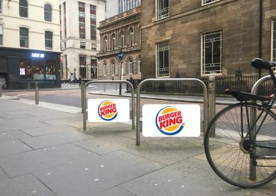 Burger King cycle stands