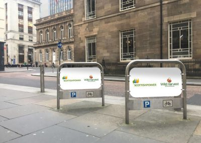 Scottish Power and Wild Harvest cycle stands