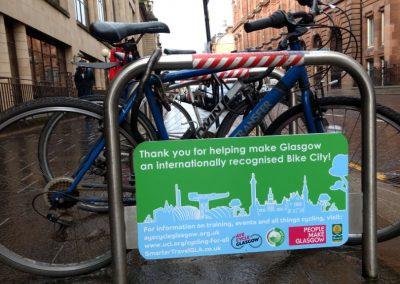 Glasgow Council cycle stands