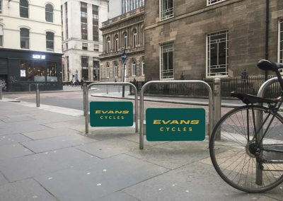 Evans Cycles cycle stands